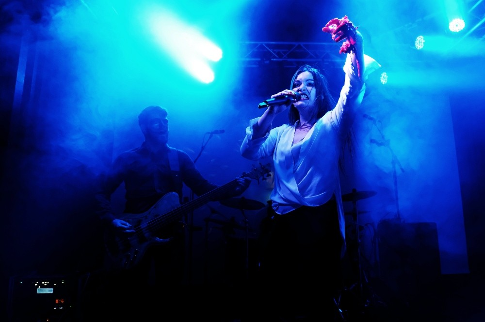 Ethereal Kingdoms live at Royal Metal Fest. Sofia Schmidt with bleeding heart special effect.