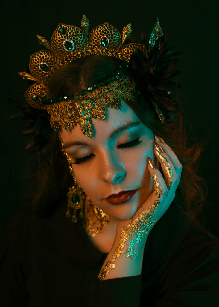 Ethereal Kingdoms vocalist growl Sofia Schmidt. By Mathilde Maria Photography. Mighty Music 2019