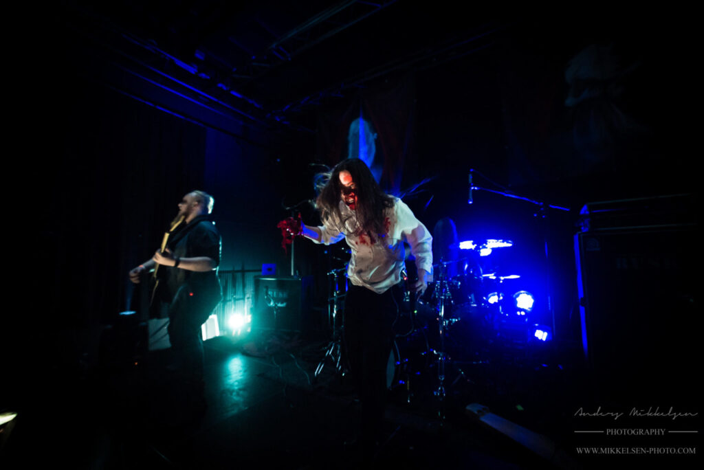 Ethereal Kingdoms live at Copenhagen Metal Fest. Vocalist Sofia Schmidt with bloody special effect. By Mikkelsen Photo for Metal A Day.