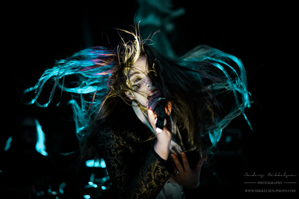 Ethereal Kingdoms live at Copenhagen Metal Fest. Vocalist Sofia Schmidt. By Mikkelsen Photo for Metal A Day.