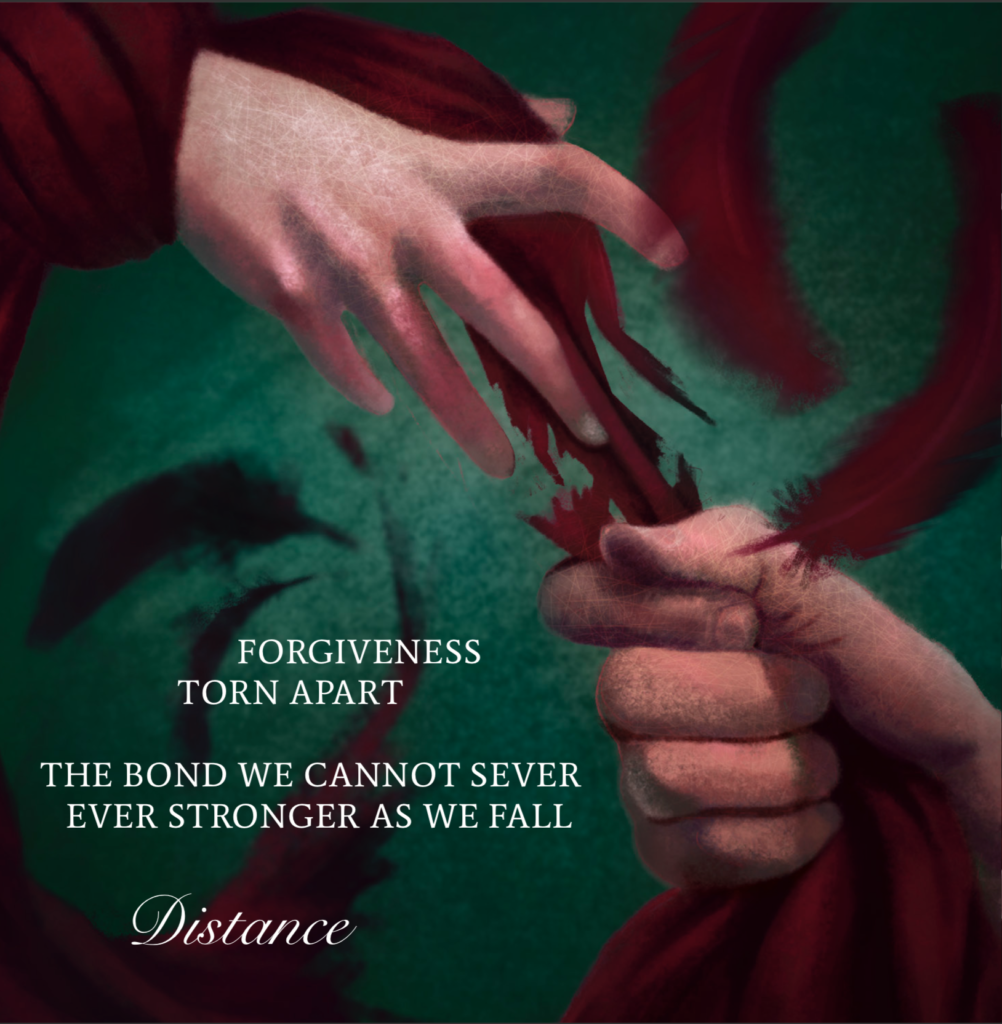 Distance by Ethereal Kingdoms Hollow Mirror. Symphonic metal. Mighty Music 2019. Artwork by Anna Holm Sørensen.