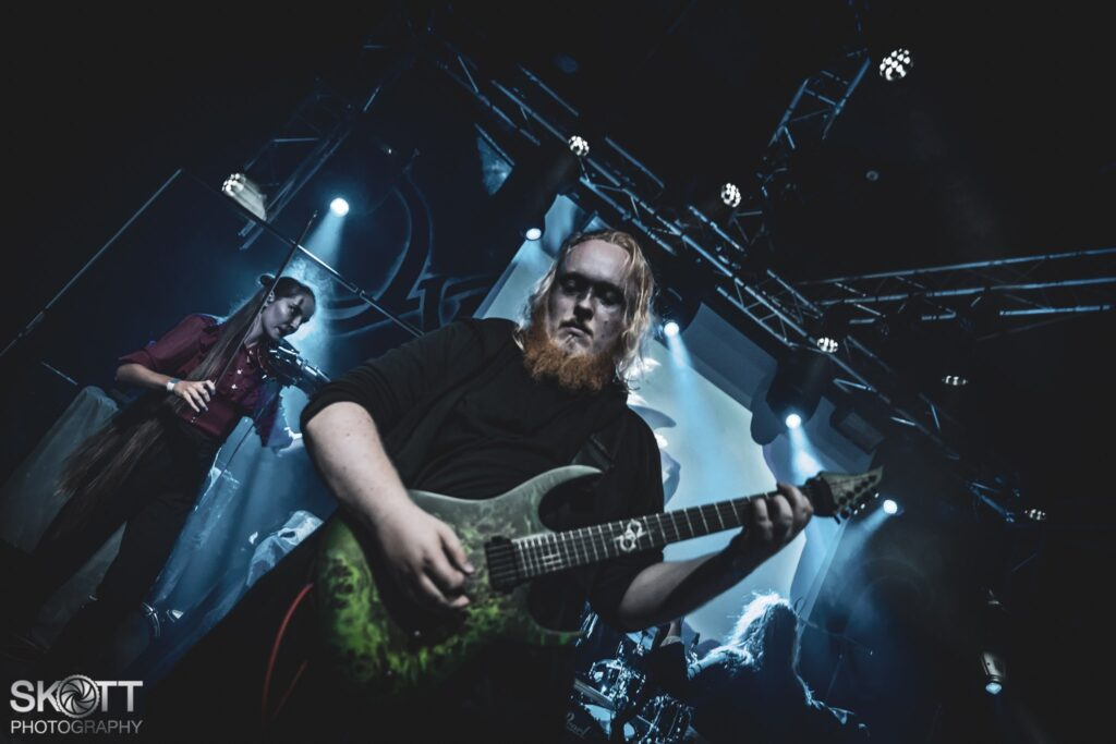 Ethereal Kingdoms guitarist Christian Haystack Rasmussen live at Wintersun 15th Anniversary support.