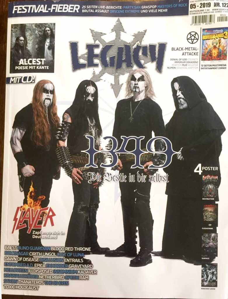 Legacy no 122 front page with review of Ethereal Kingdoms Hollow Mirror
