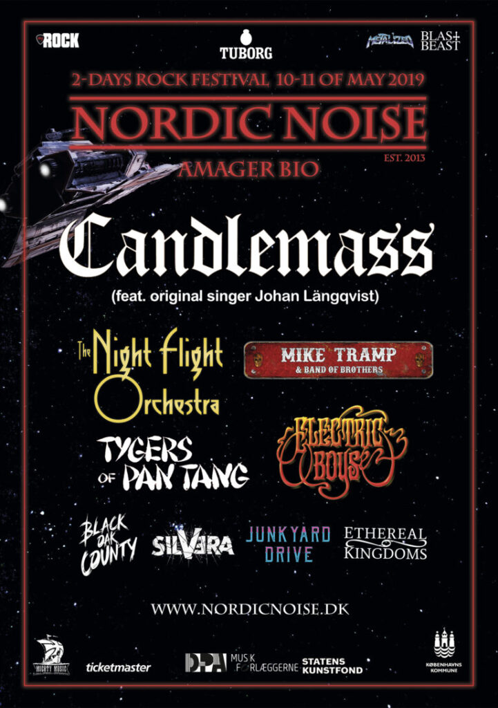 Nordic Noise 2019 poster with lineup for both days.