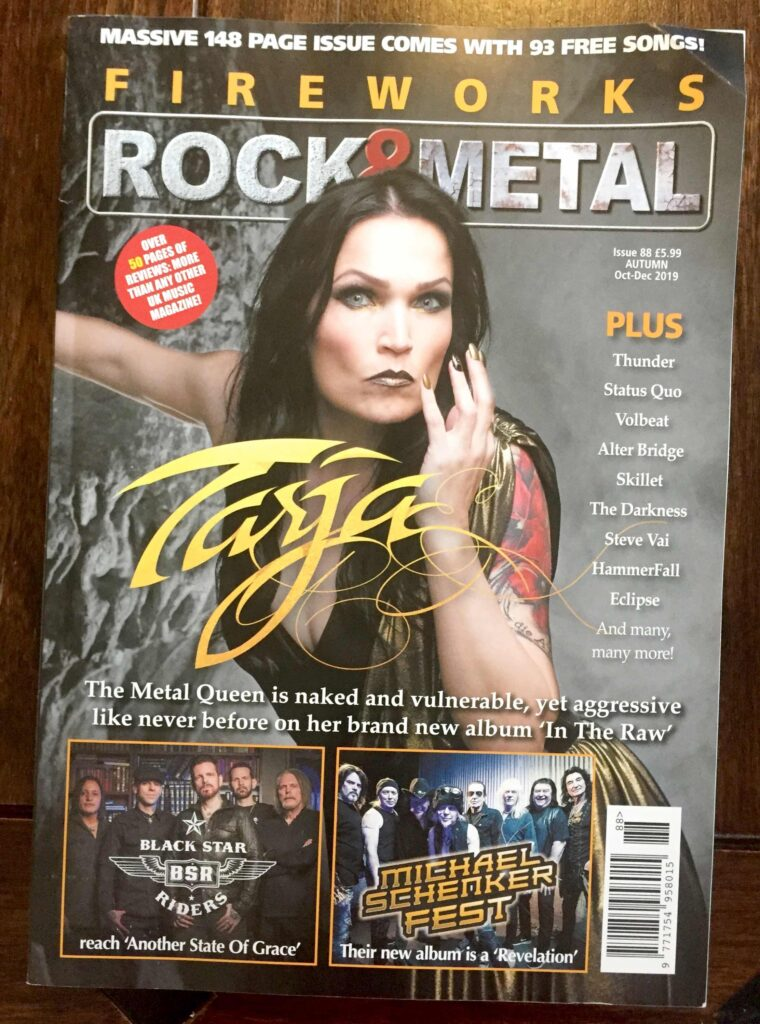 Front page of Fireworks Rock & Metal issue no 88 October-December 2019