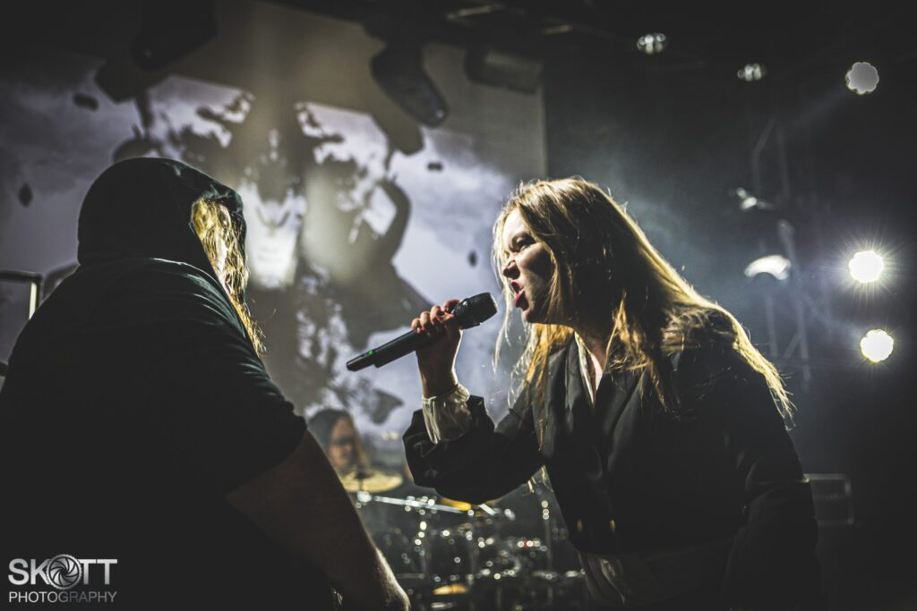 """""""___ Sofia Schmidt and Christian Rasmussen Ethereal Kingdoms live at Wintersun 15th anniversary support August 30th 2019, Gimle, Roskilde Portrait by Skoett Photography"""