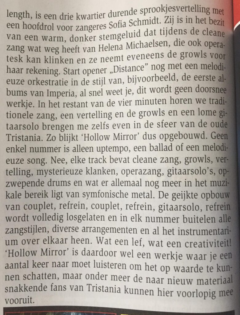 Ethereal Kingdoms hollow mirror review aardschok magazine 2019 mighty music